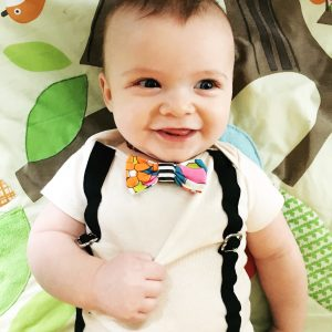 Bowtie and Suspender Onesies