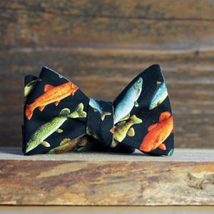 Black Fish Bowtie