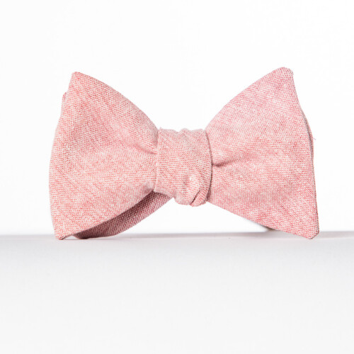 Pink Linen Butterfly Bow Tie
