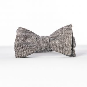 Black Linen Winter Wedding Bowtie
