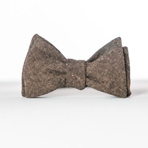 Espresso Linen Butterfly Bow Tie