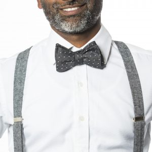 Black Linen Suspenders