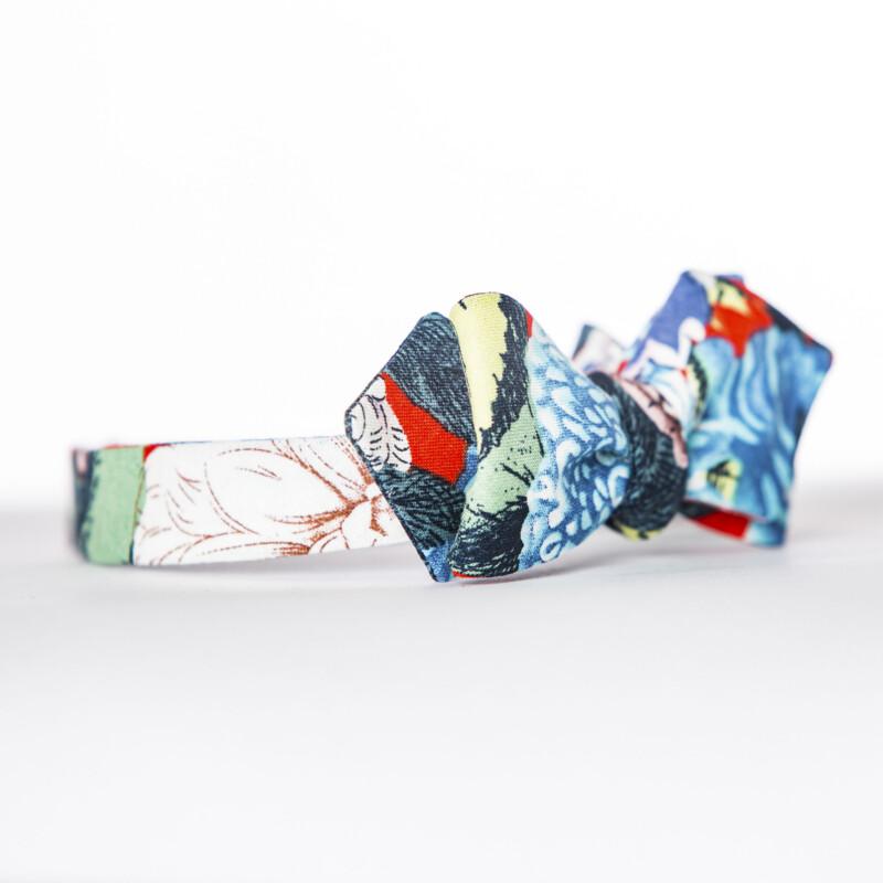 Red Dahlia Linen Arrow Bow Tie