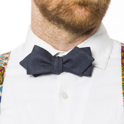 Navy Arrow or Diamond-Point Bow Tie