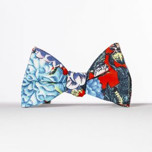Red Dahlia Butterfly Bow Tie