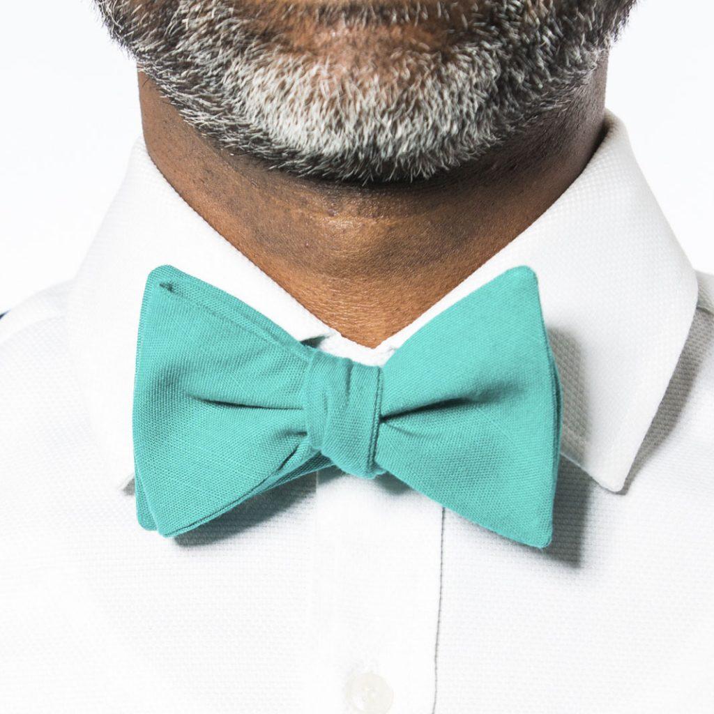 Teal Pre-Tied Bow Tie