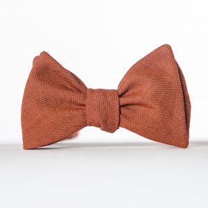 Clay Rustic Butterfly Bow Tie