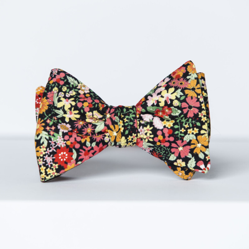 Wildflower Floral Butterfly Bow Tie