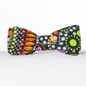 Mandala Paddle Bow Tie - Fun Batwing Bow Tie