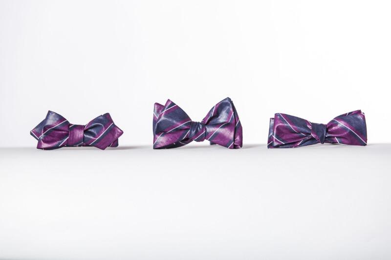 Big Stripe Butterfly Bow Tie