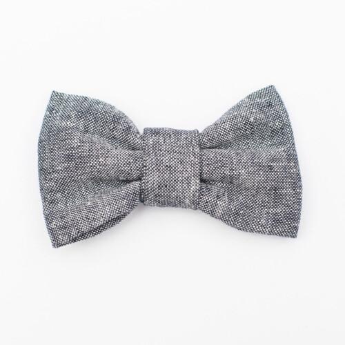 Indigo Linen Kids' Bow Tie