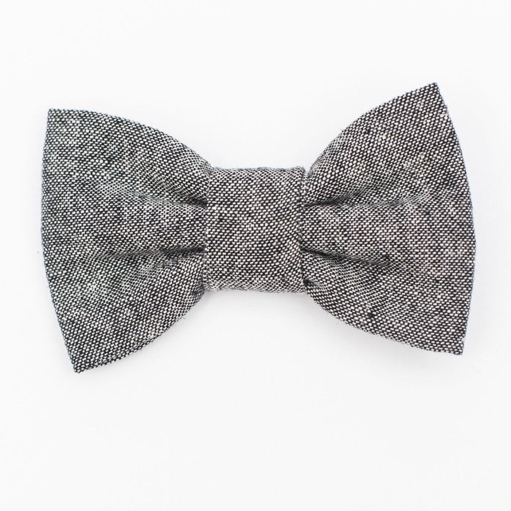 Black Linen Kids' Bow Tie