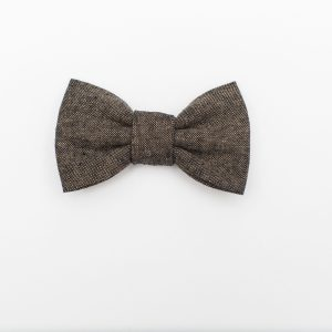 Espresso Linen Dark Brown Kids' Bowtie