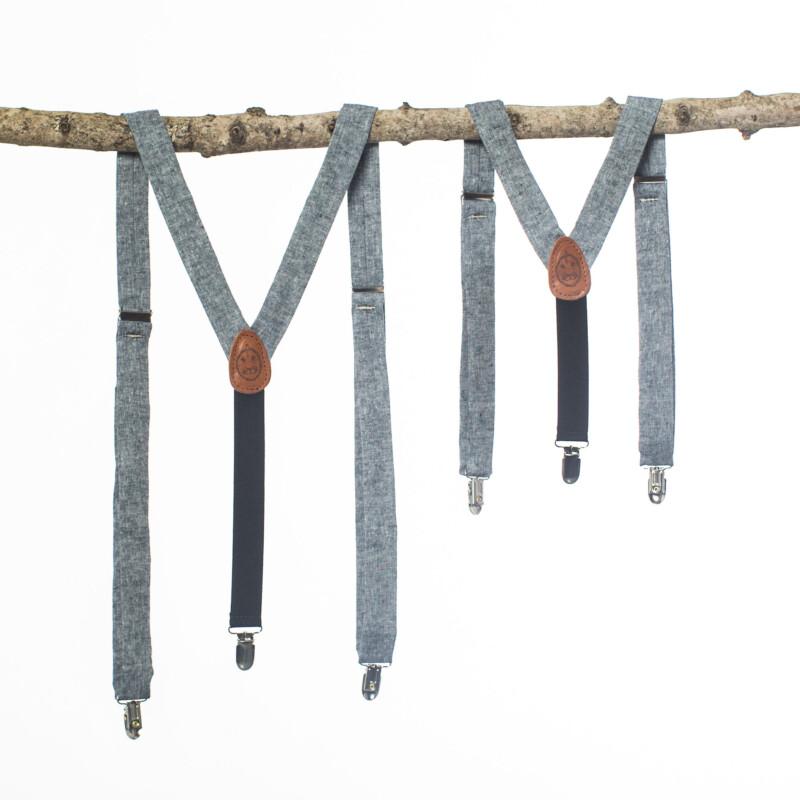 Indigo Linen Kids' Suspenders