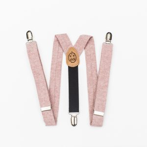 Pink Kids Suspenders