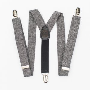 Black Linen Kids Suspenders