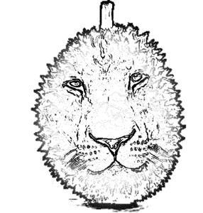 Durian Lyon face logo