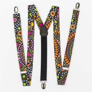 Mandala Slim Cut Clip-On Suspenders