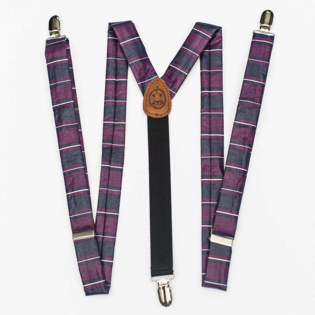 "Big Stripe 1"" Clip-On Suspenders"
