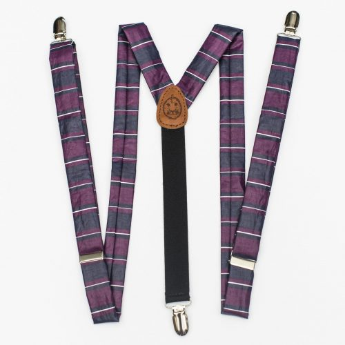Big Stripe Slim Cut Clip-On Suspenders