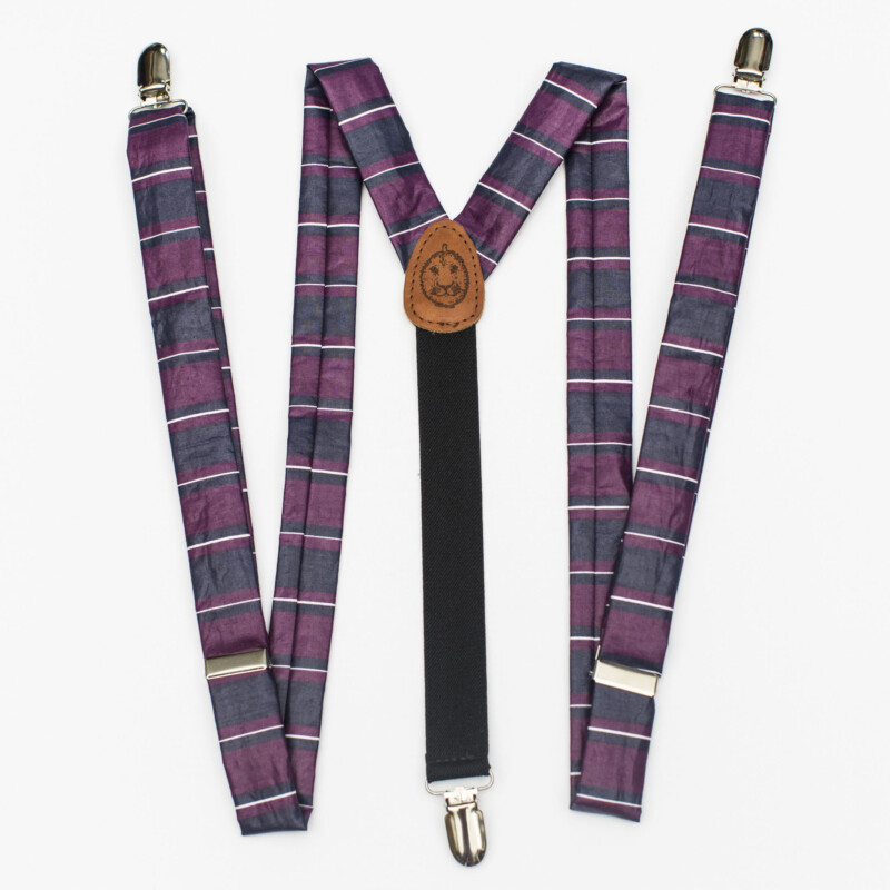 "Big Stripe 1"" Clip-On Suspenders"