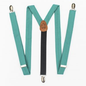 Teal Clip-On Suspenders