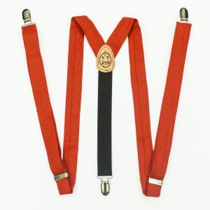 Poppy Red Slim Cut Suspenders