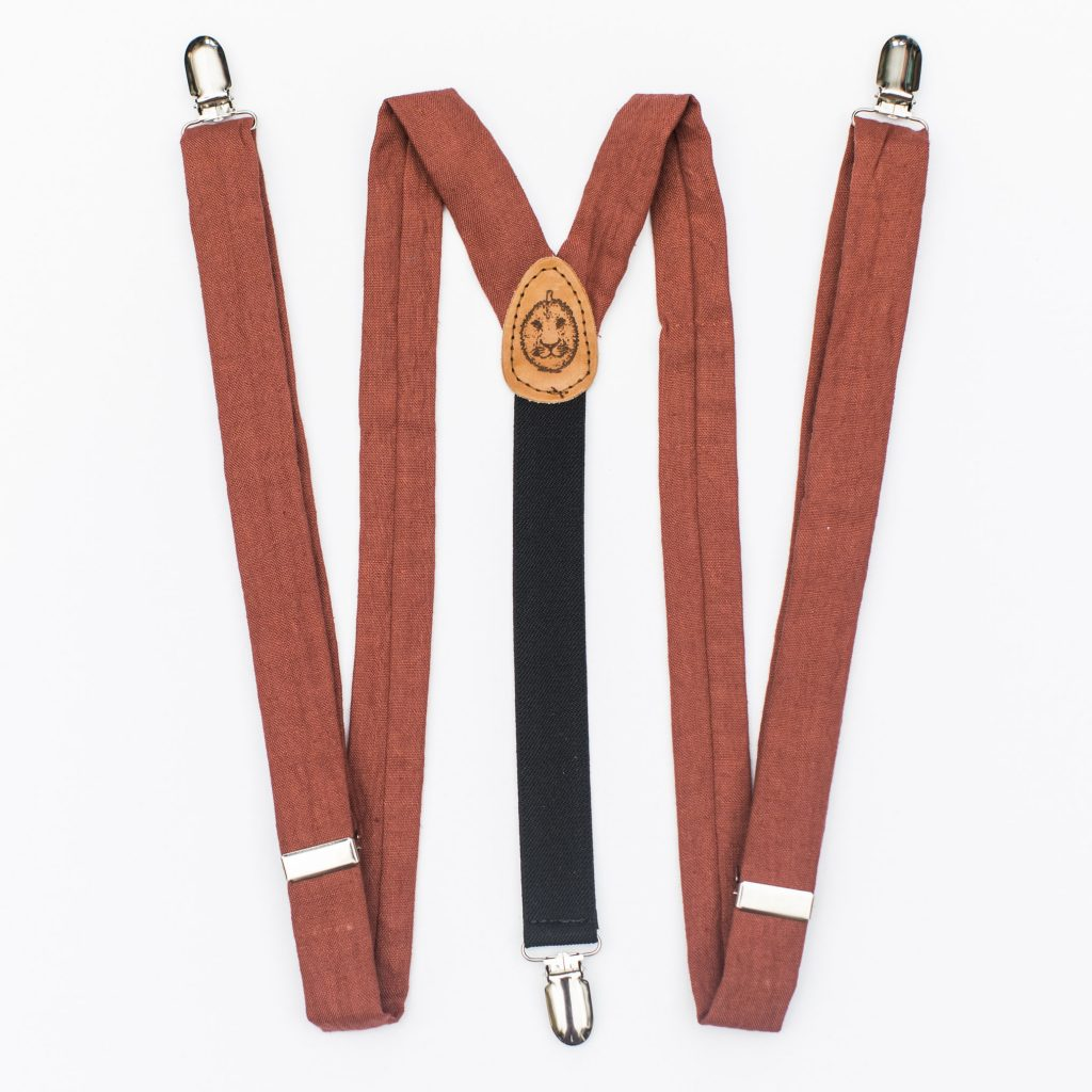 """Clay 1"""" Clip-On Suspenders"""