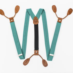 "Teal Suspenders - 1"" Button-On Suspenders"