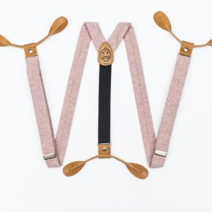 Pink Wedding Suspenders