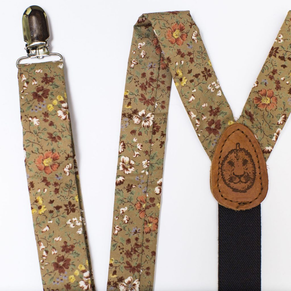 "Prairie Floral 1"" Clip-On Suspenders"