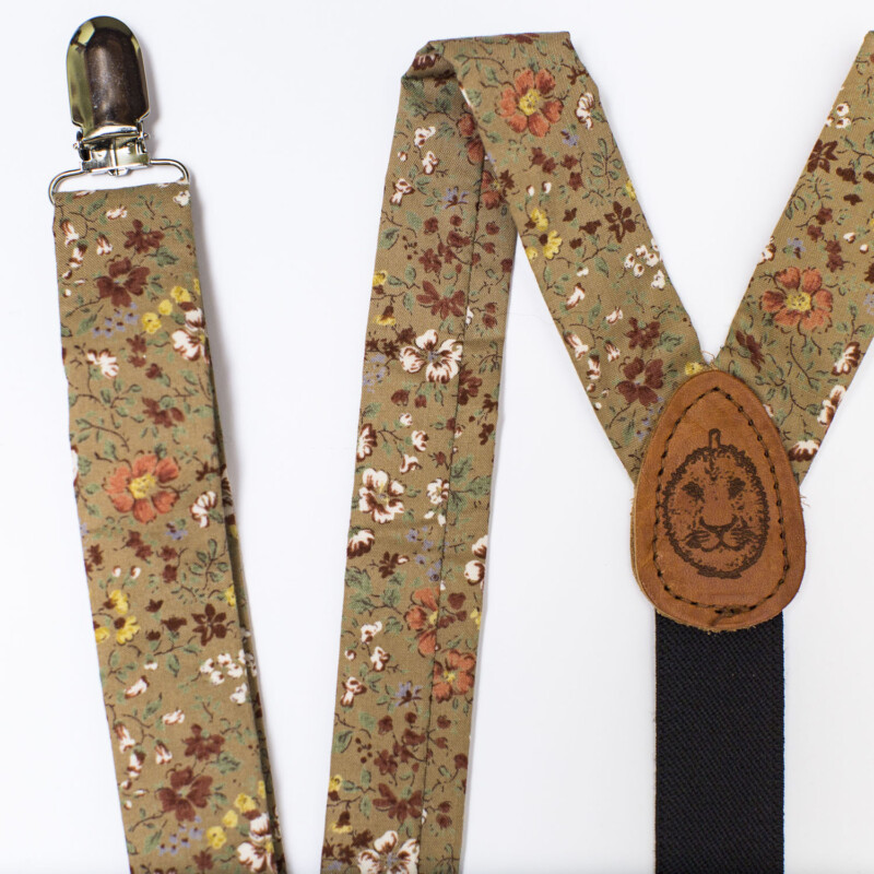 Prairie Floral 1″ Clip-On Suspenders