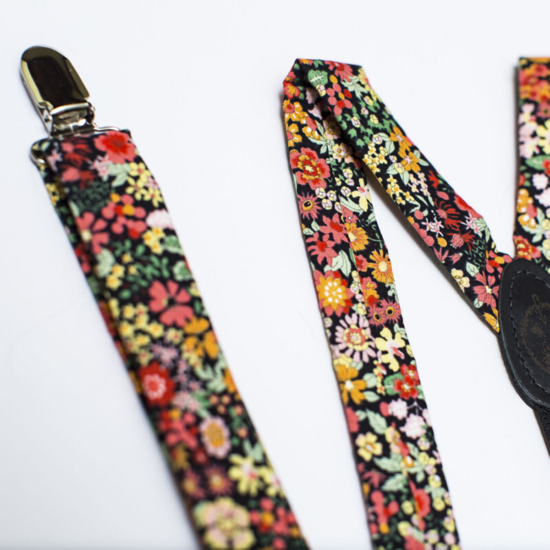 Wildflower Floral 1″ Clip-On Suspenders