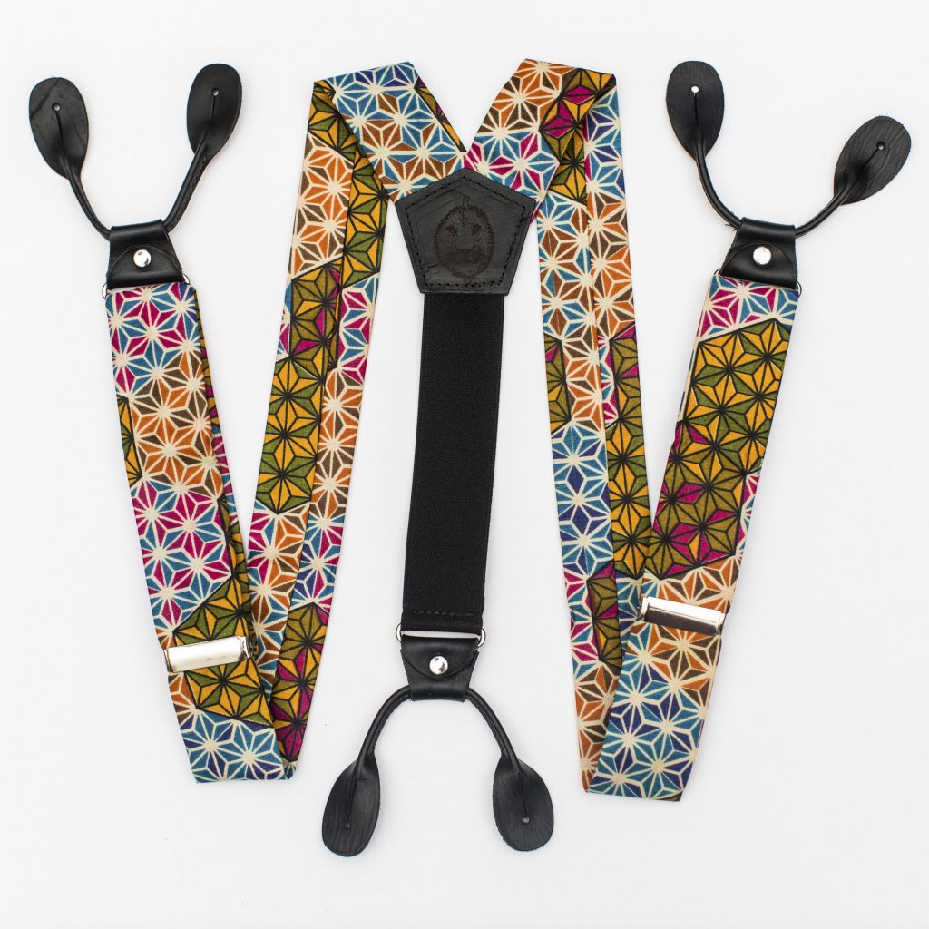 "Makeba 1.5"" Button-On Suspenders"