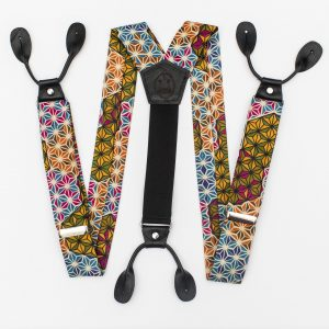 Makeba Wide Strapped Button Suspenders