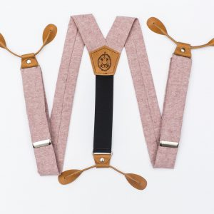 Pink Button-On Suspenders